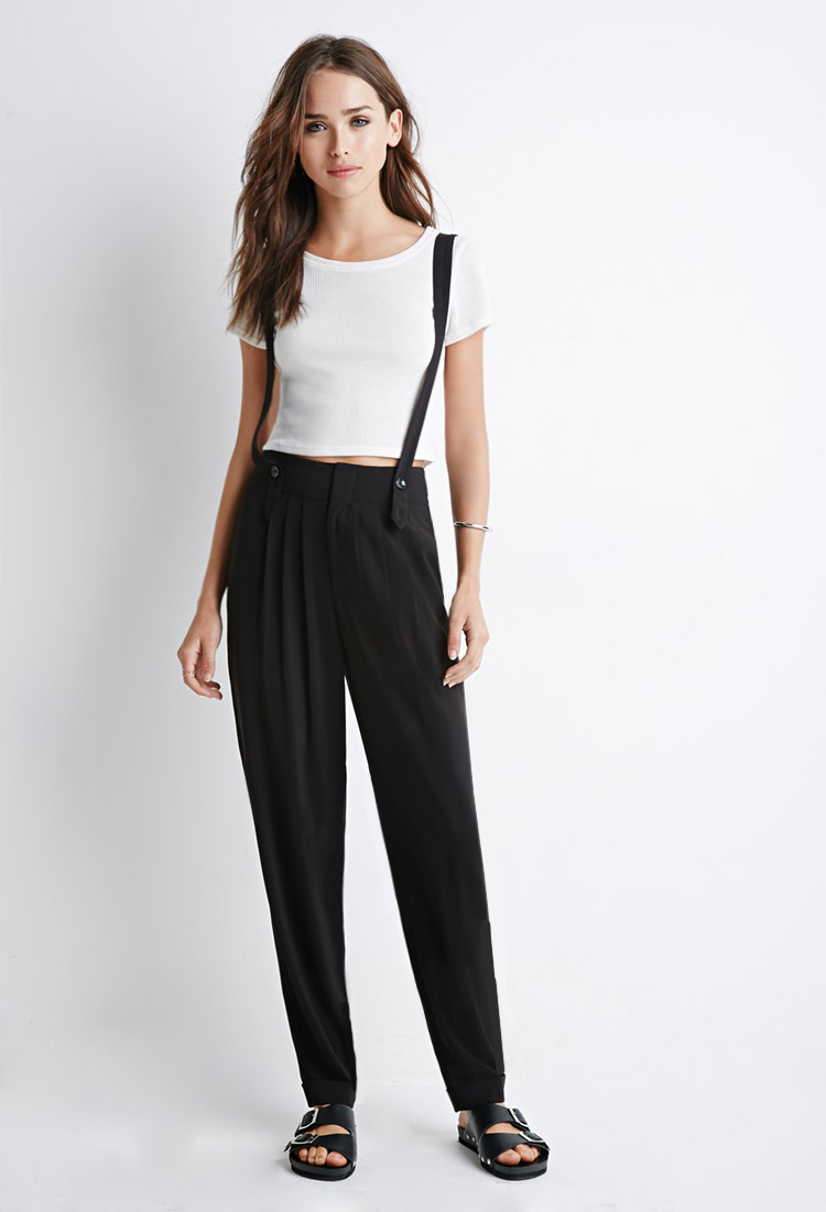 dc9f651e8a3 Forever 21 Classic Suspender Trousers You ve Been Added To The ...