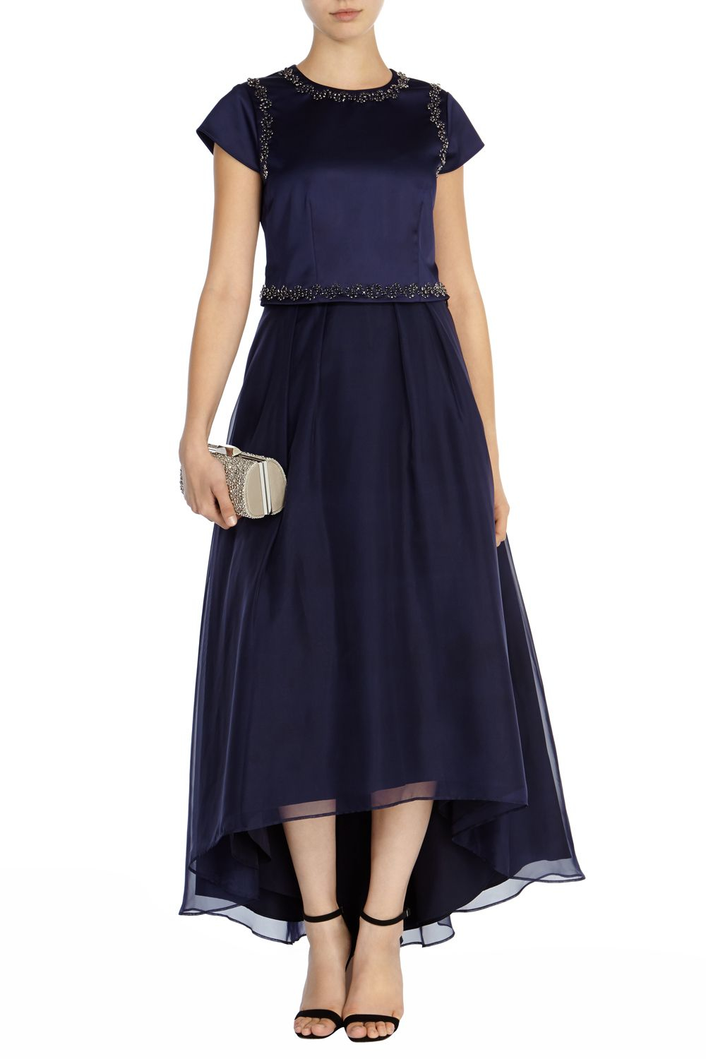 coast high low skirt in blue lyst