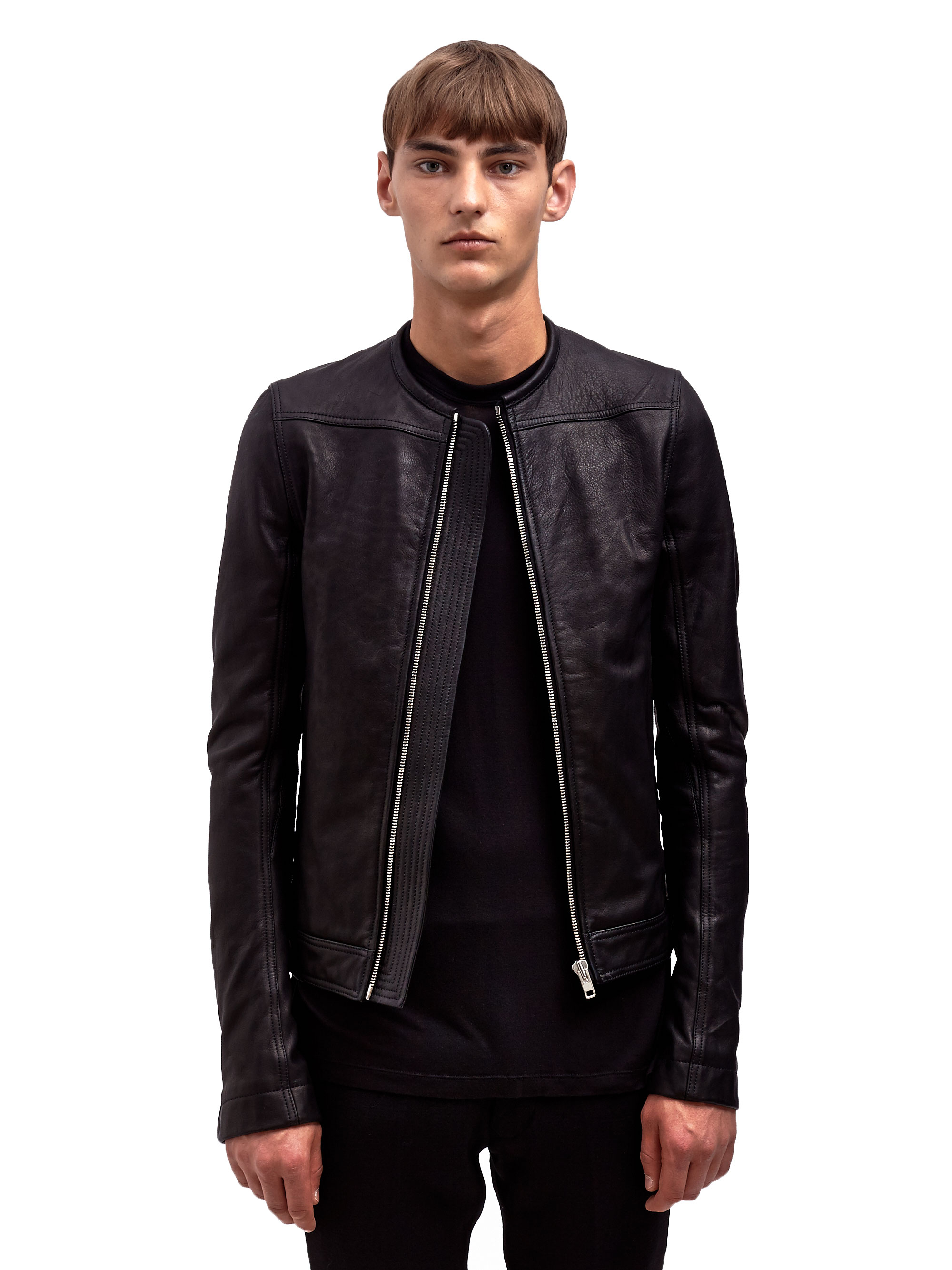 Lyst - Rick owens Mens Leather Biker Jacket in Black for Men