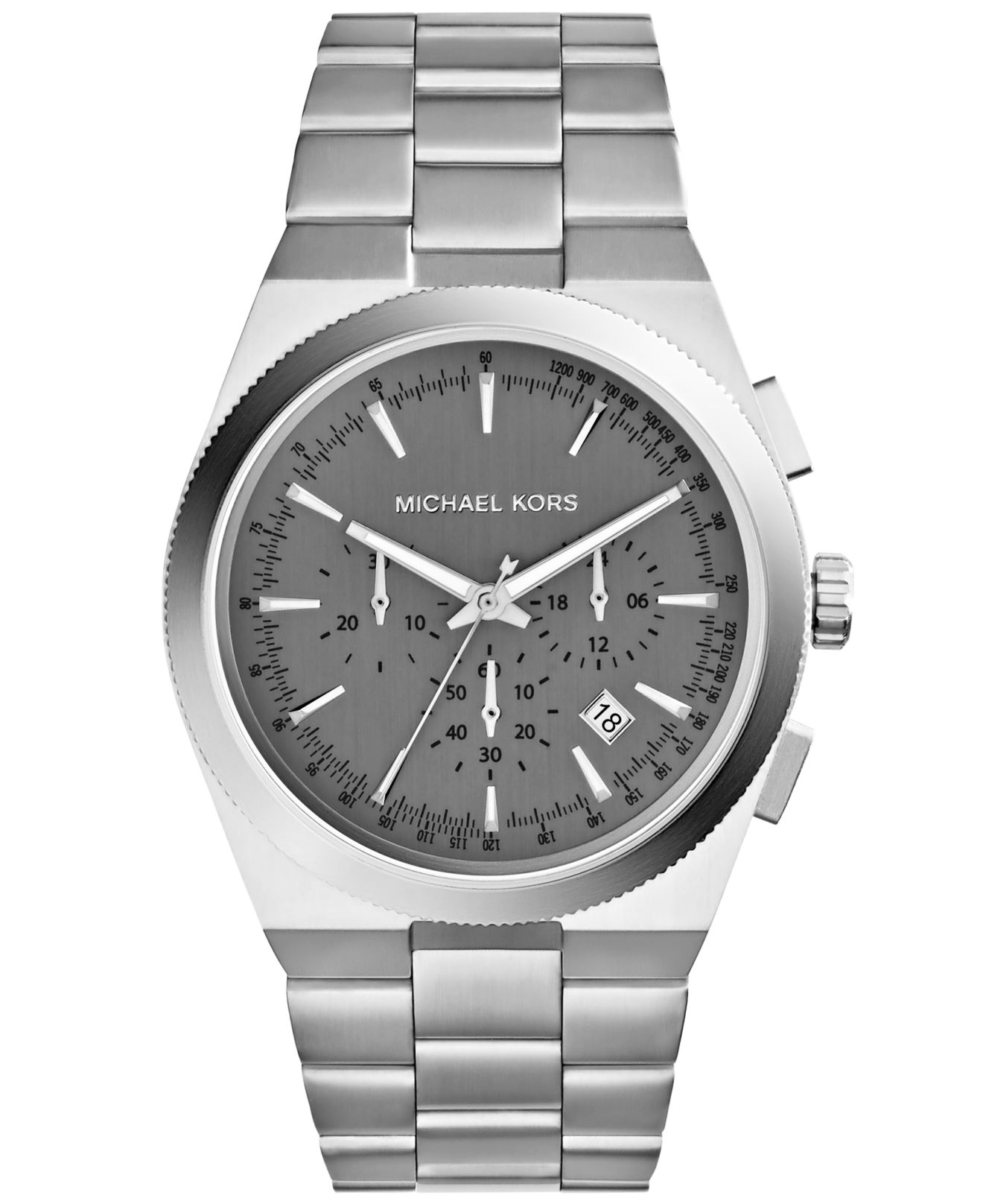 michael kors men s chronograph channing stainless steel bracelet gallery previously at macy s · men s michael kors chronograph