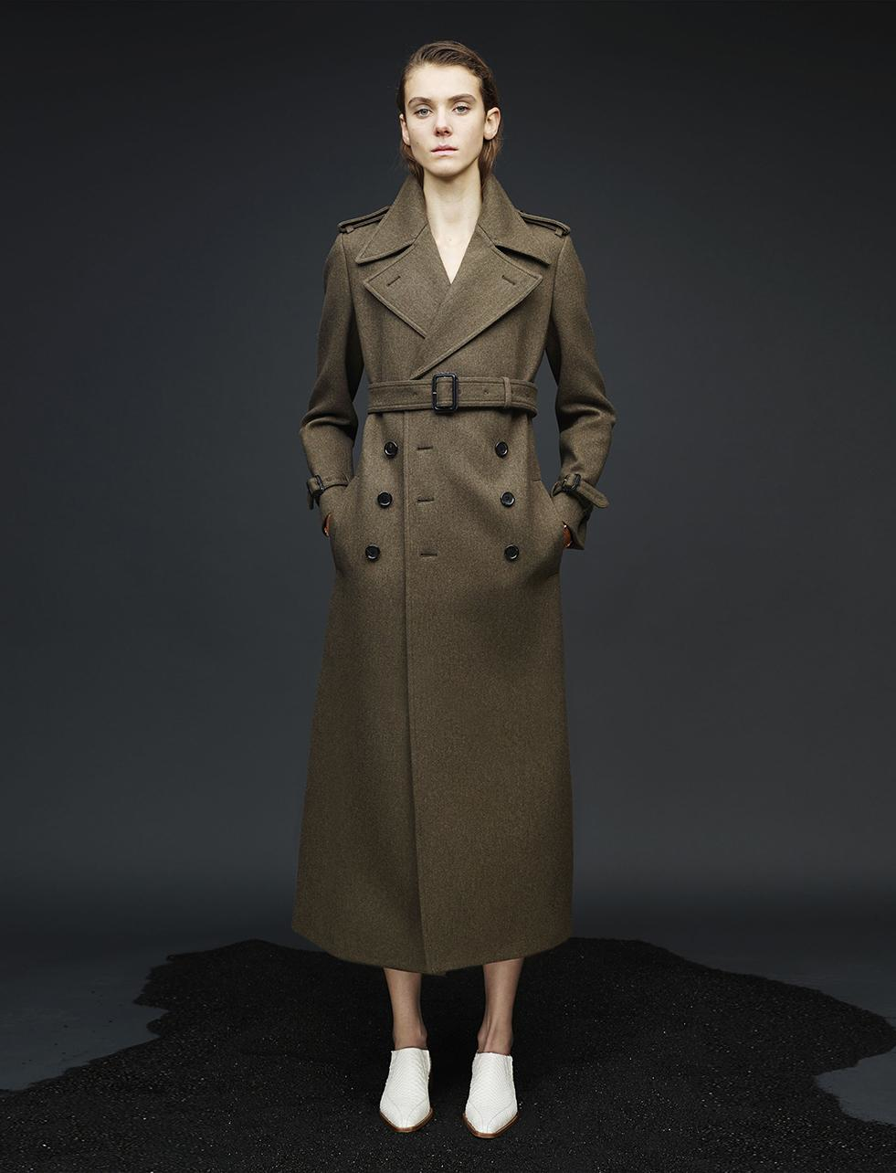 Joseph Military Wool Townie Long Coat in Brown | Lyst
