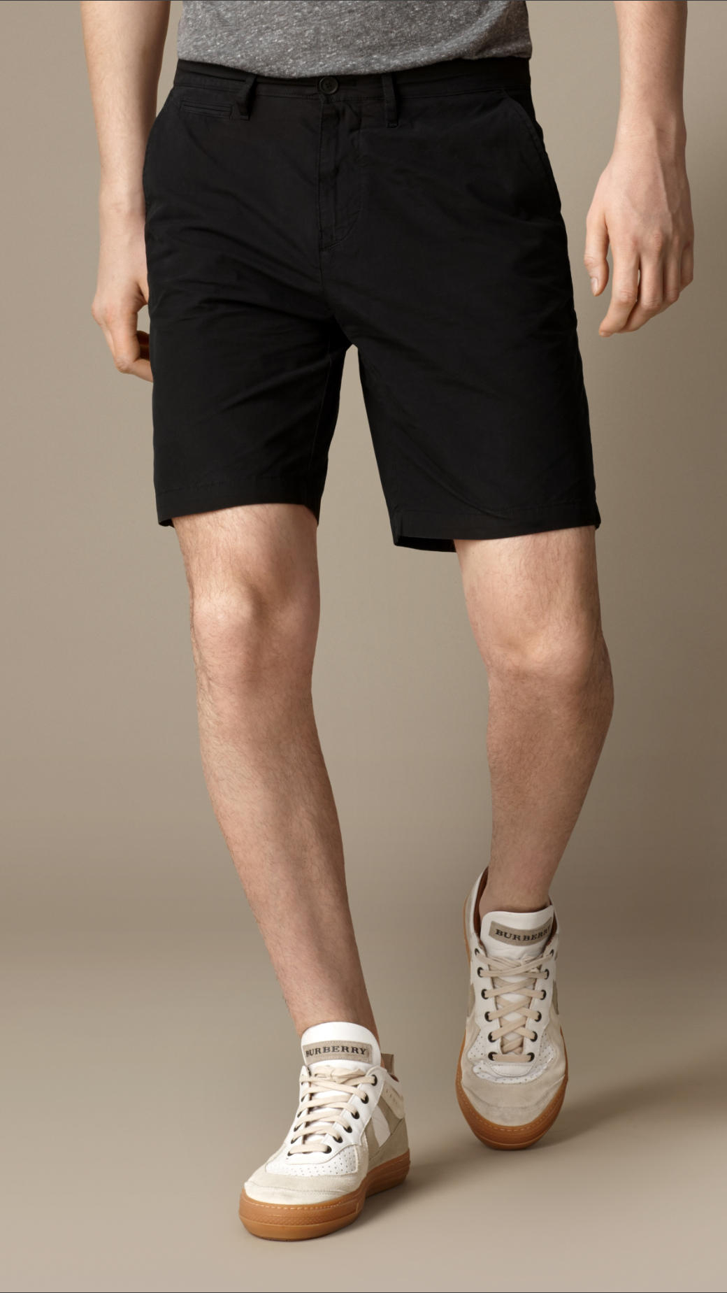 Black Cotton Shorts Mens