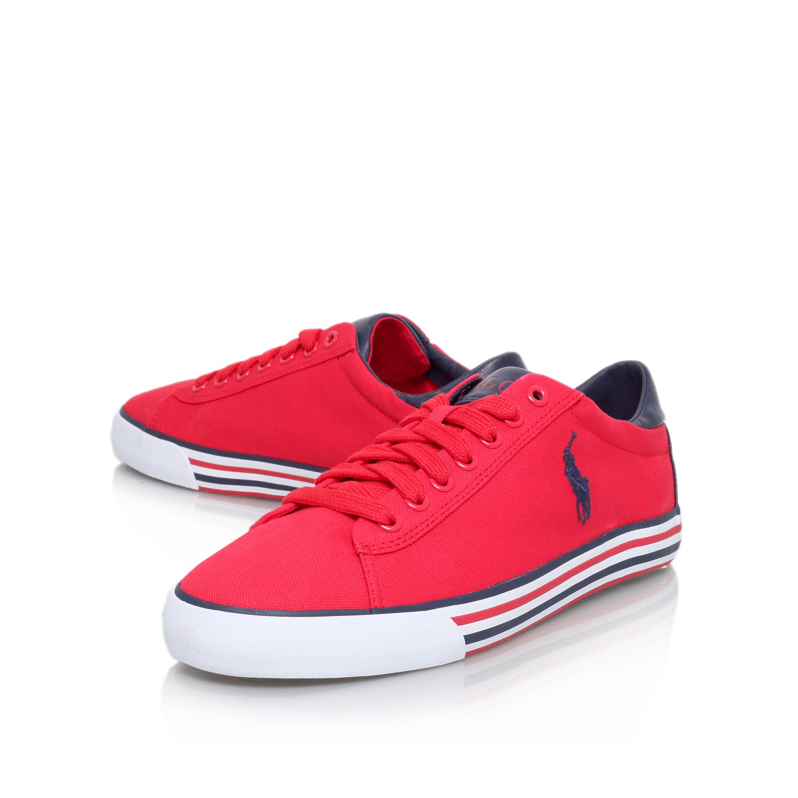 lyst polo ralph lauren harvey lo sneaker in red. Black Bedroom Furniture Sets. Home Design Ideas