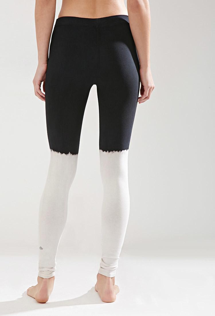 d918e7e29a Lyst - Forever 21 Jala Clothing Half Moon Legging in White