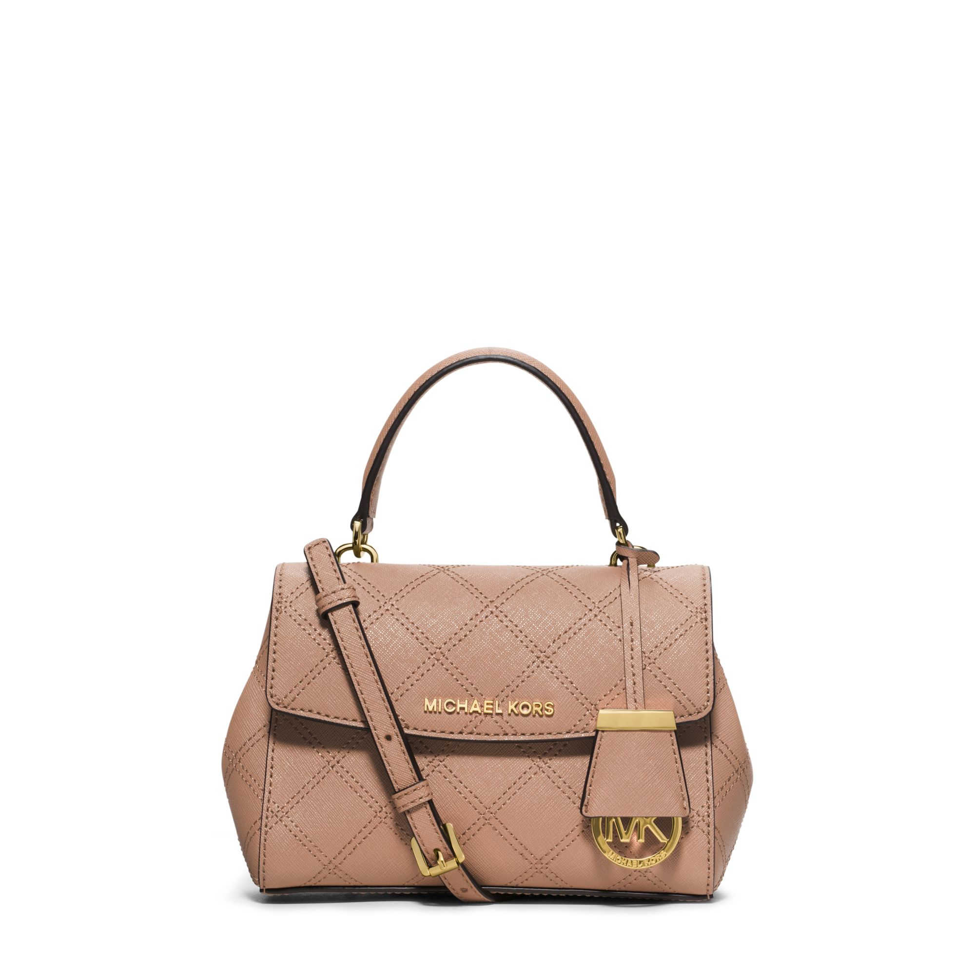 Lyst Michael Kors Ava Saffiano Leather Cross Body Bag In