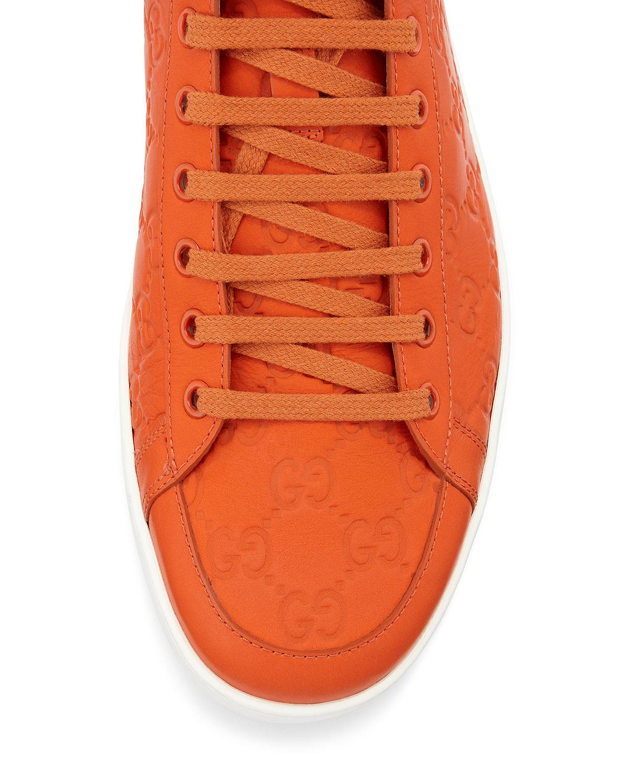 b0aef28e8 Gucci Brooklyn Ssima Hightop Sneaker in Orange for Men - Lyst