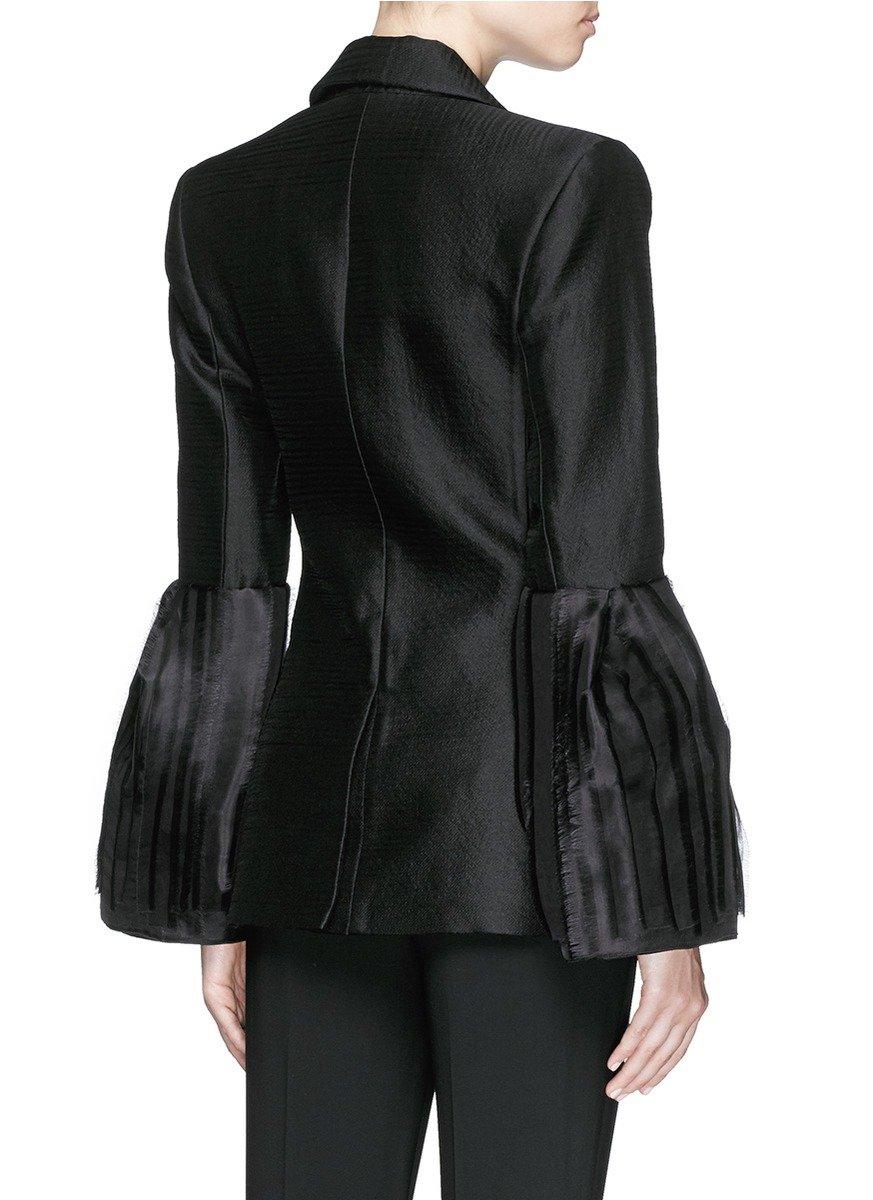 Lyst Roksanda Alden Pleat Organza Bell Sleeve Silk