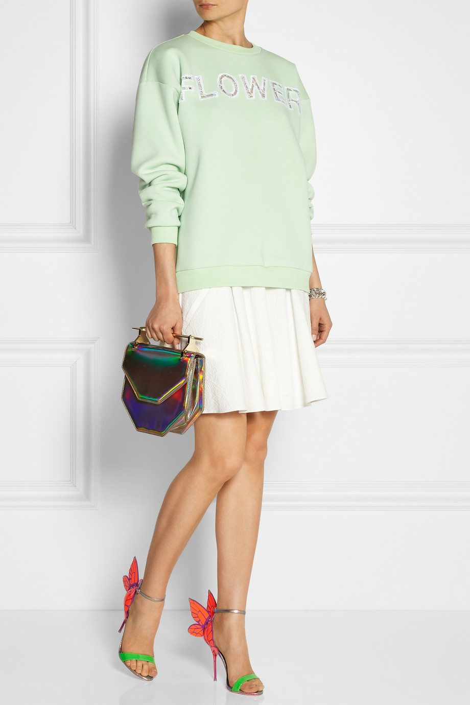 Lyst Sophia Webster Chiara Neon And Iridescent Leather