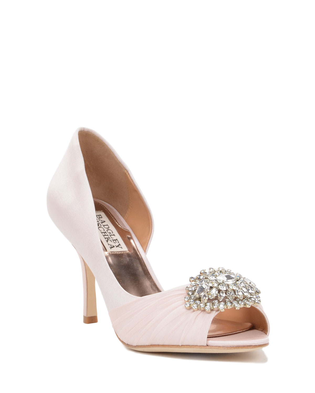 wide wedding shoes badgley mischka pearson wide width embellished in 1406