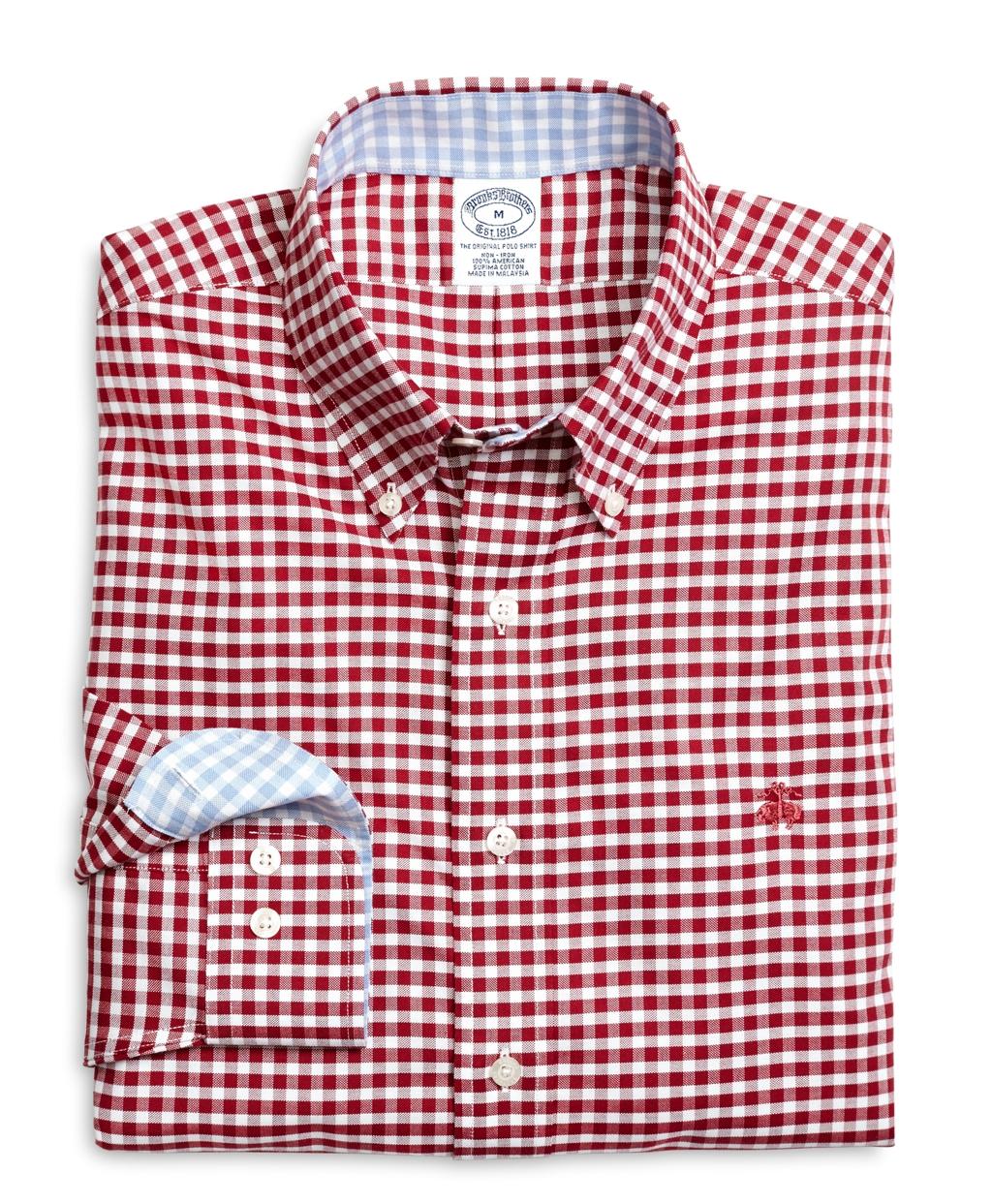 b0caec16d756 Lyst - Brooks Brothers Supima® Cotton Non-iron Slim Fit Oxford ...