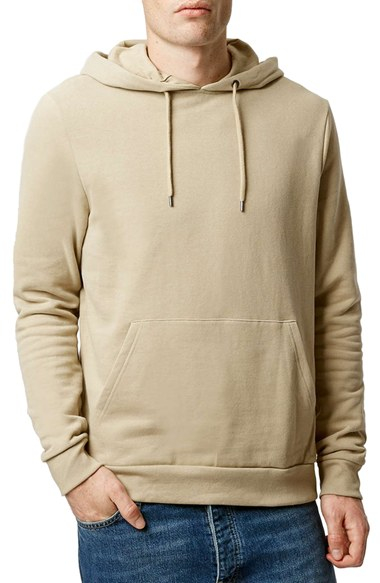Topman Pullover Hoodie in Natural for Men | Lyst