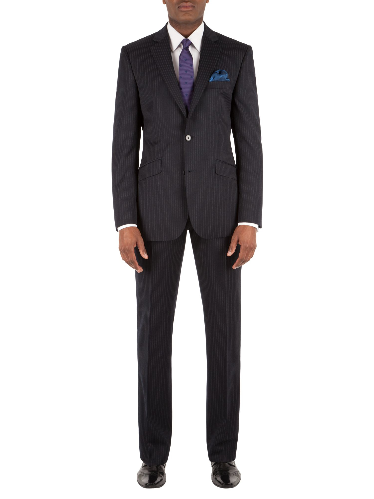 Alexandre Of England Chalk Stripe Tailored Suit Jacket In