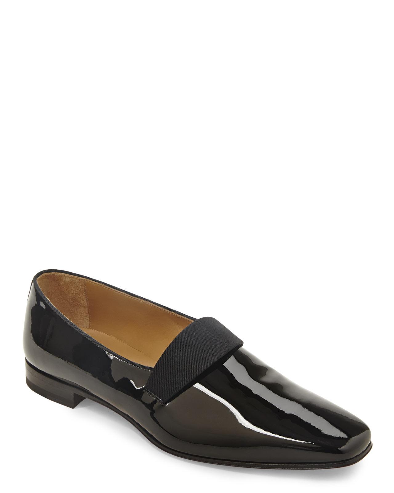 10785f03098 Christian louboutin Black Patent Smoker Flats in Black for Men