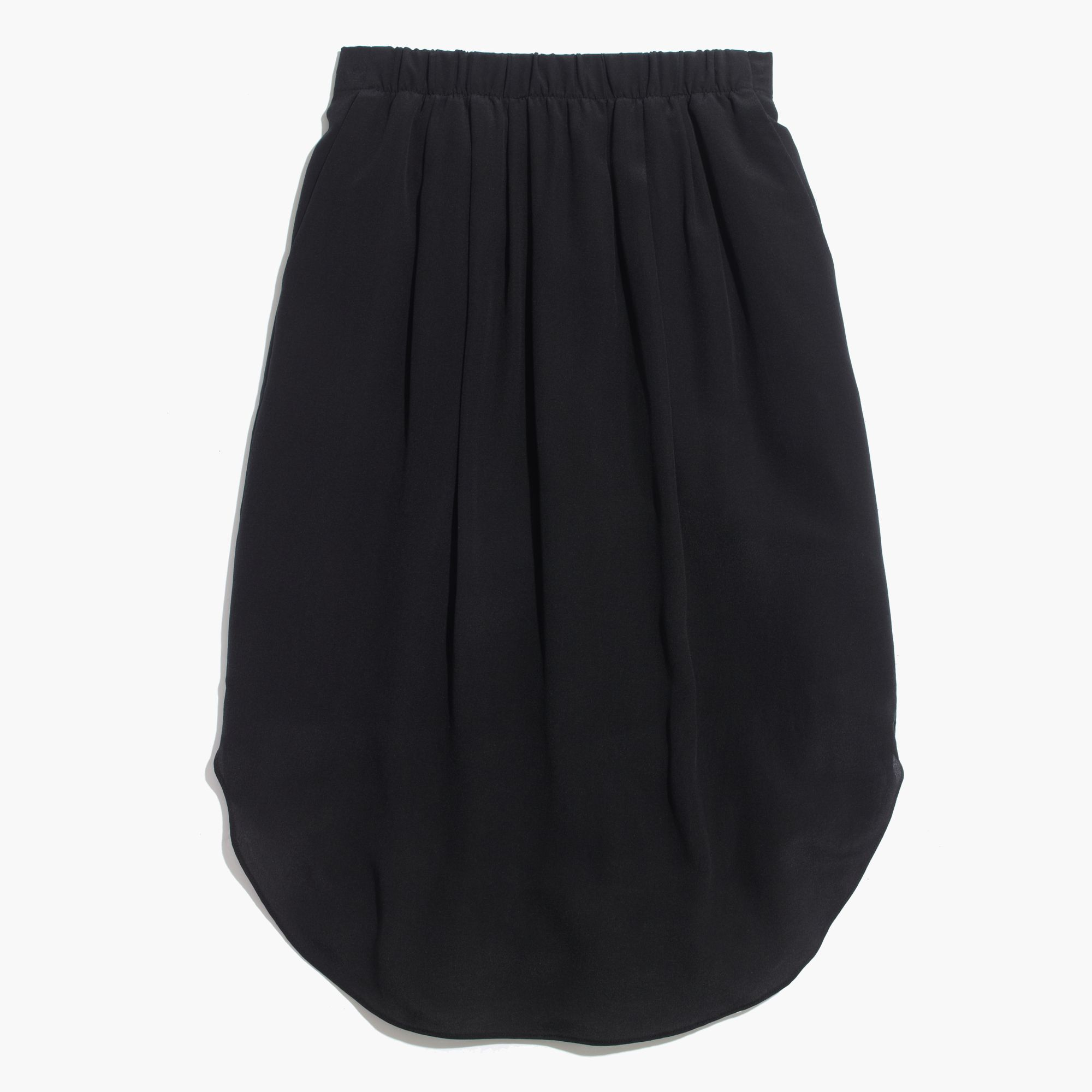 Madewell Silk Island Skirt in Black | Lyst