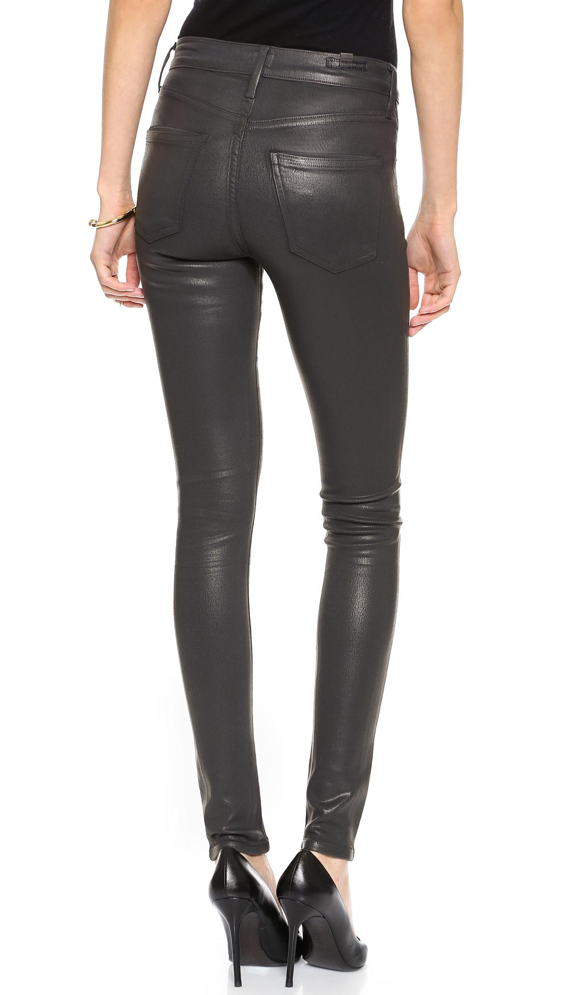 citizens of humanity rocket leatherette coated jeans. Black Bedroom Furniture Sets. Home Design Ideas