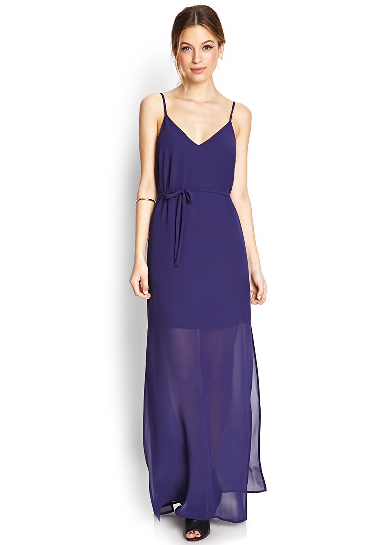 Lyst Forever 21 Sunny Days Maxi Dress In Blue