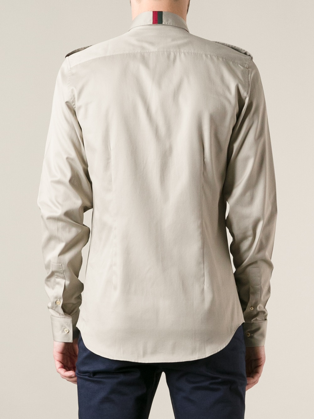 Lyst - Gucci Military Style Shirt In Natural For Men-9349