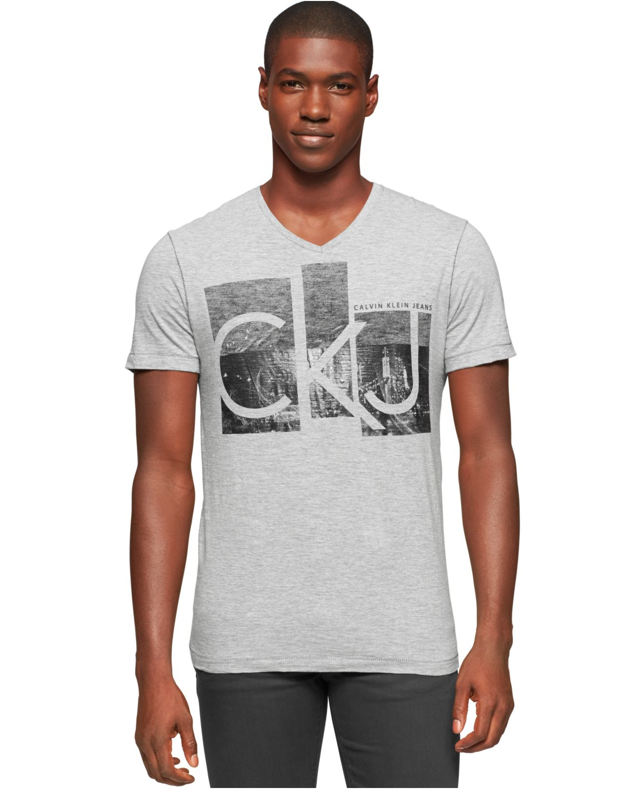 41d15431765a Lyst - Calvin Klein Ck City V-neck Graphic-print Logo T-shirt in ...