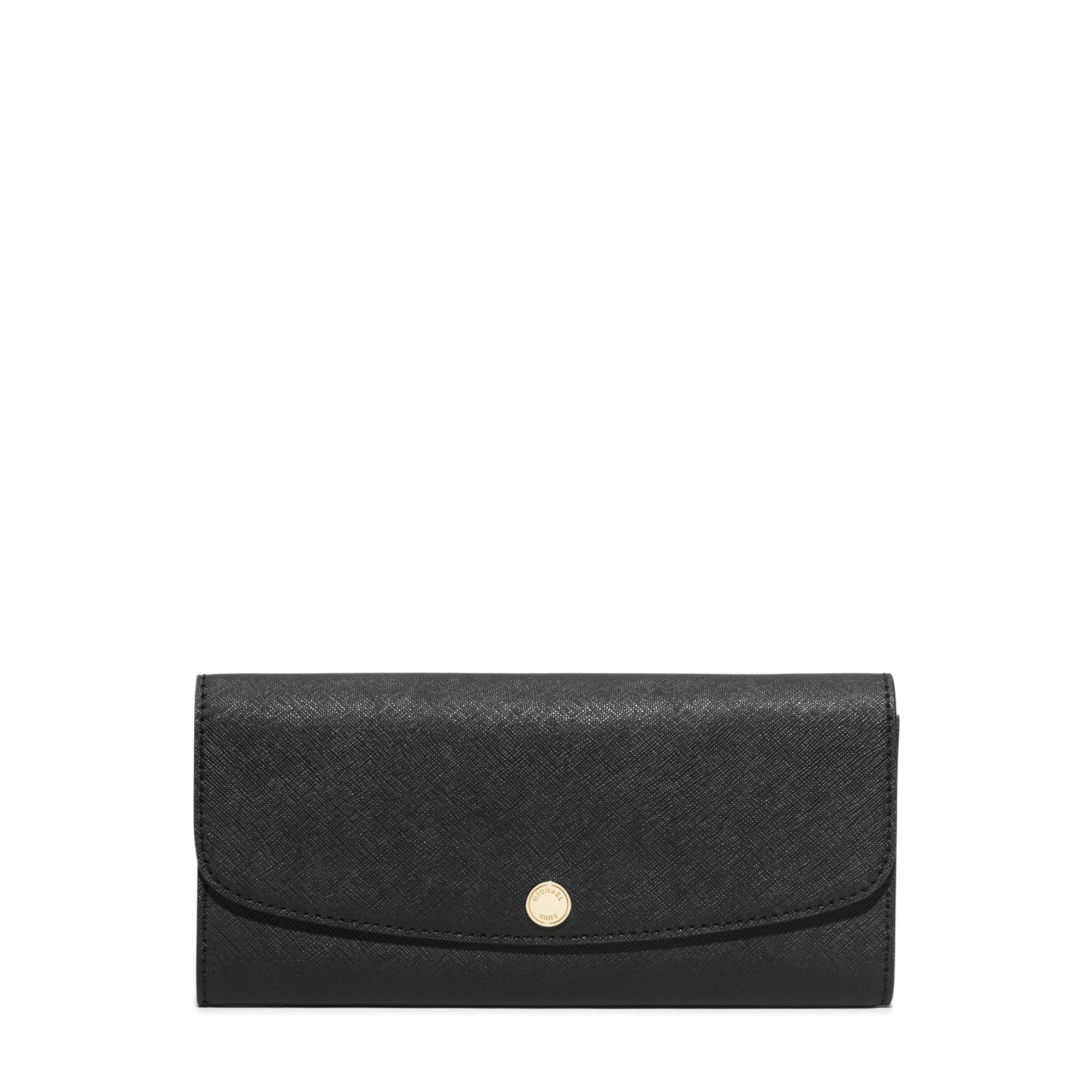 6caaa6b148a2 Michael Kors Juliana Large 3-in-1 Saffiano Leather Wallet in Black ...