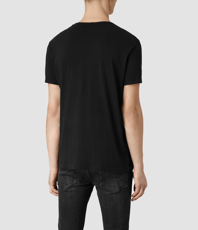 0cec01b64466 Lyst - AllSaints Ground Crew T-shirt in Black for Men