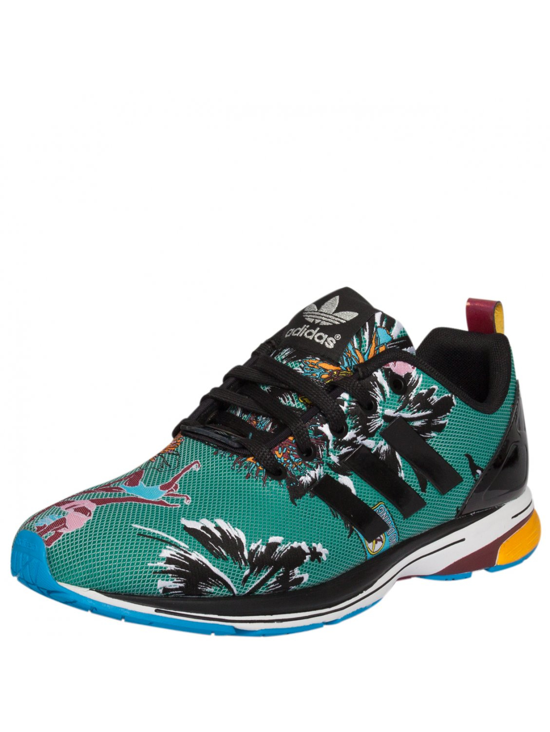 separation shoes c5368 1e10a adidas Originals Mk Zx Flux Tech Sneakers Green in Green - L