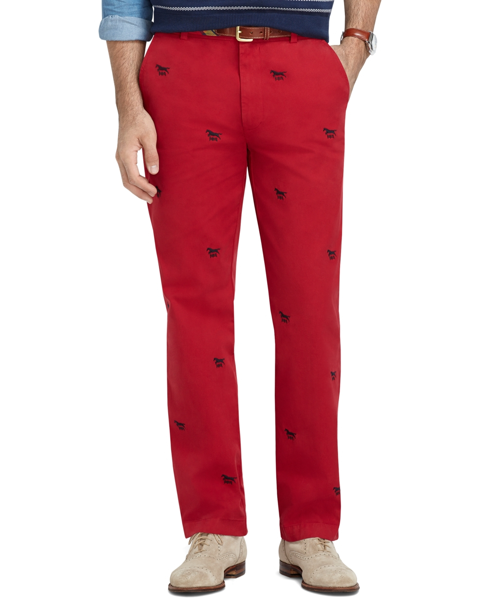 Brooks brothers Clark Fit Garmentdyed Horse Embroidered ...