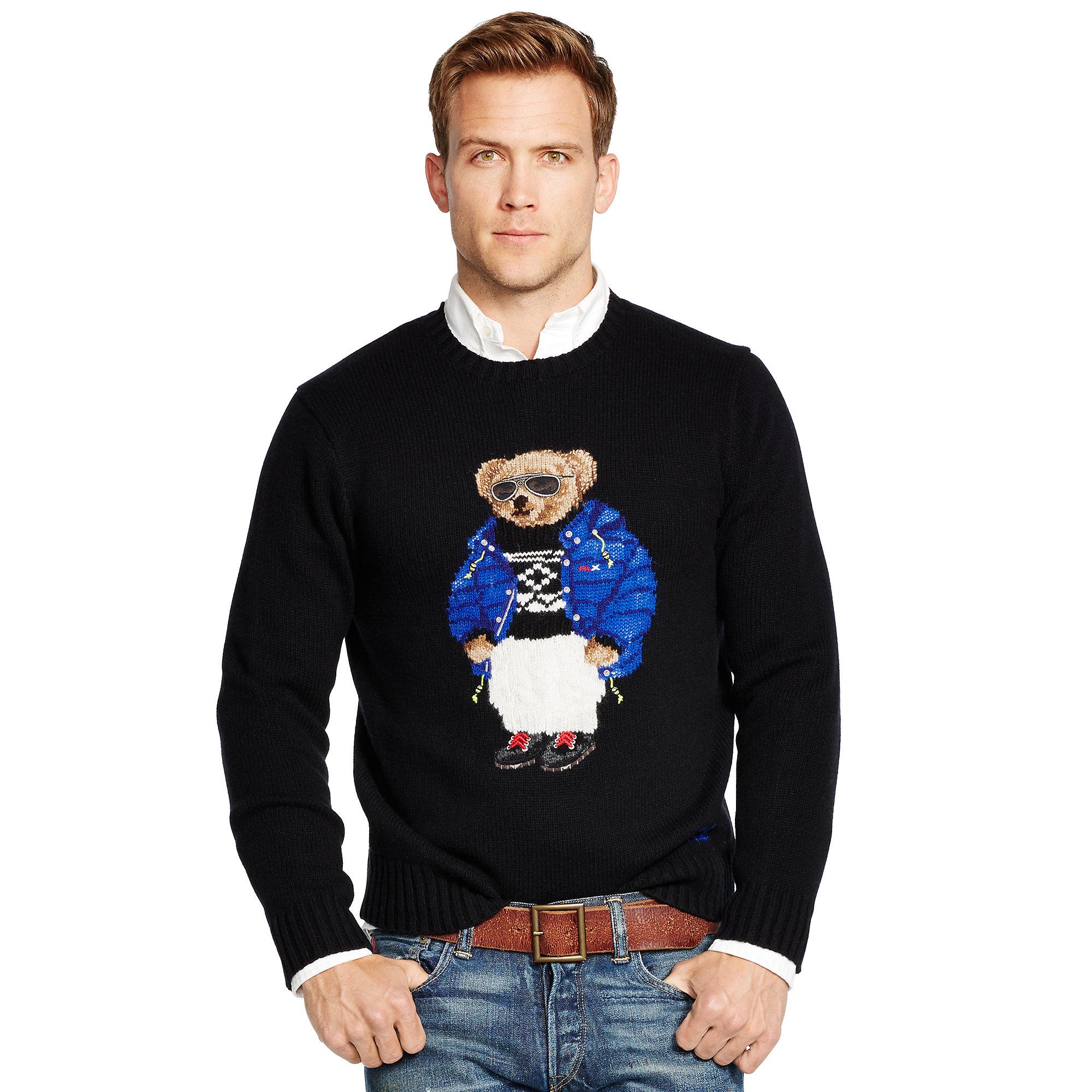 bd111abe20a5d Lyst - Polo Ralph Lauren Ski Polo Bear Sweater in Black for Men