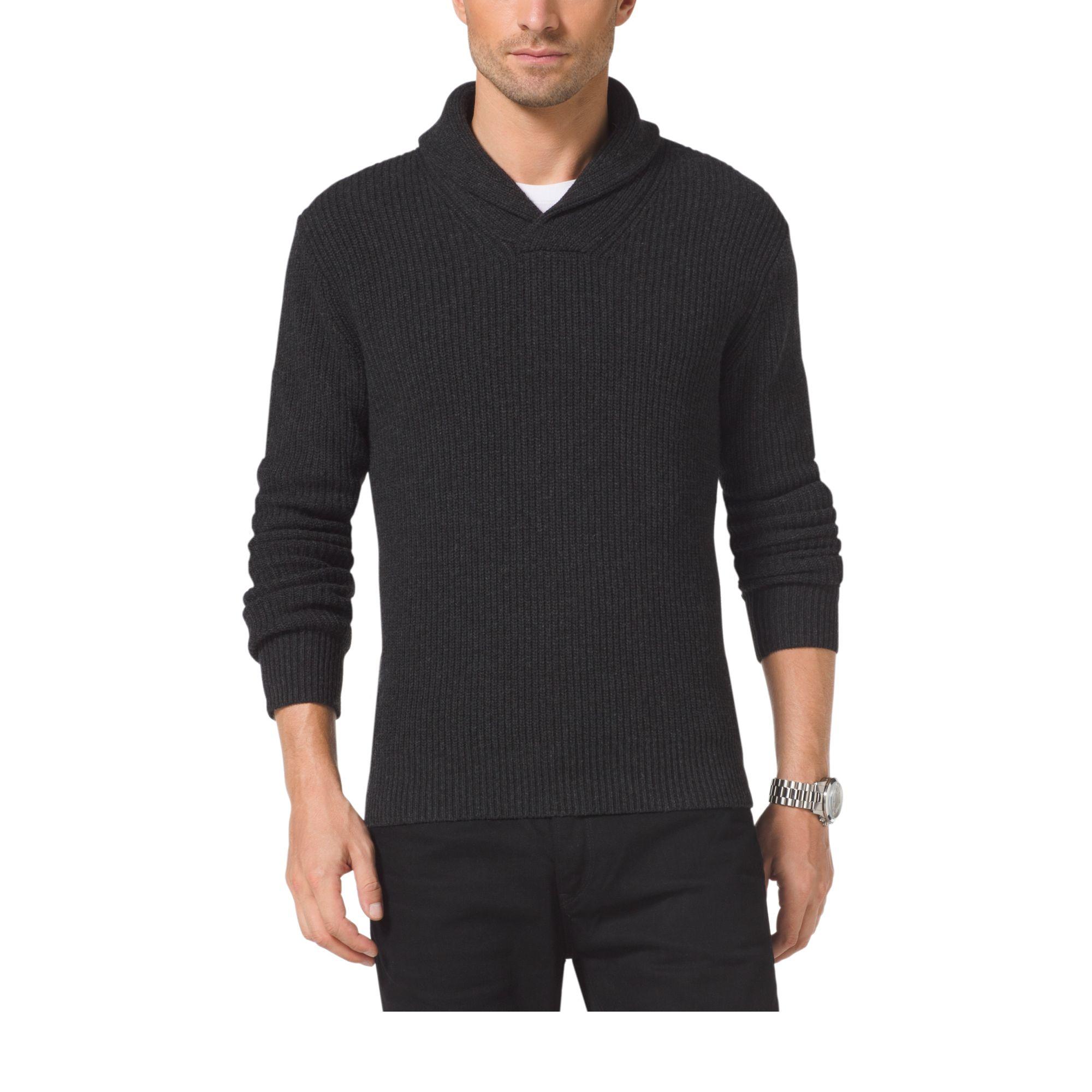 Michael kors Wool-blend Shawl Sweater for Men