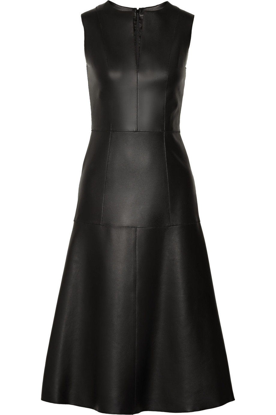 The Row Filpen Paneled Leather Dress In Black Lyst
