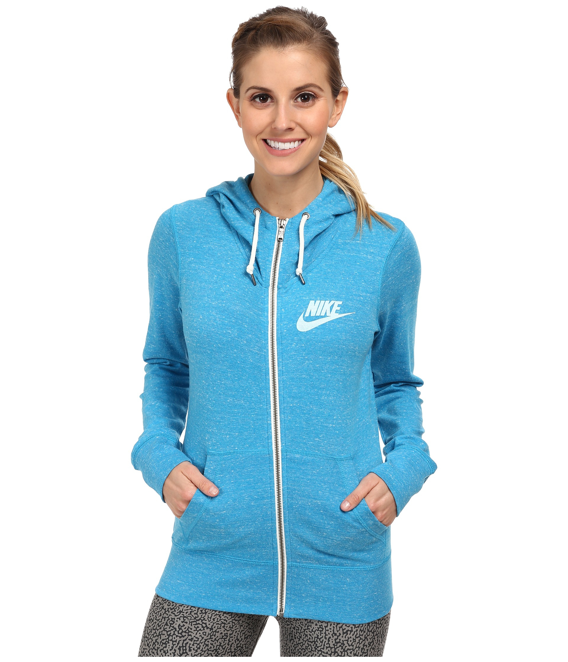e6aa9f6a5db7 Lyst - Nike Gym Vintage Full-Zip Hoodie in Blue