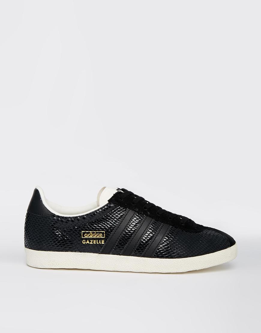 womens adidas gazelle trainers black