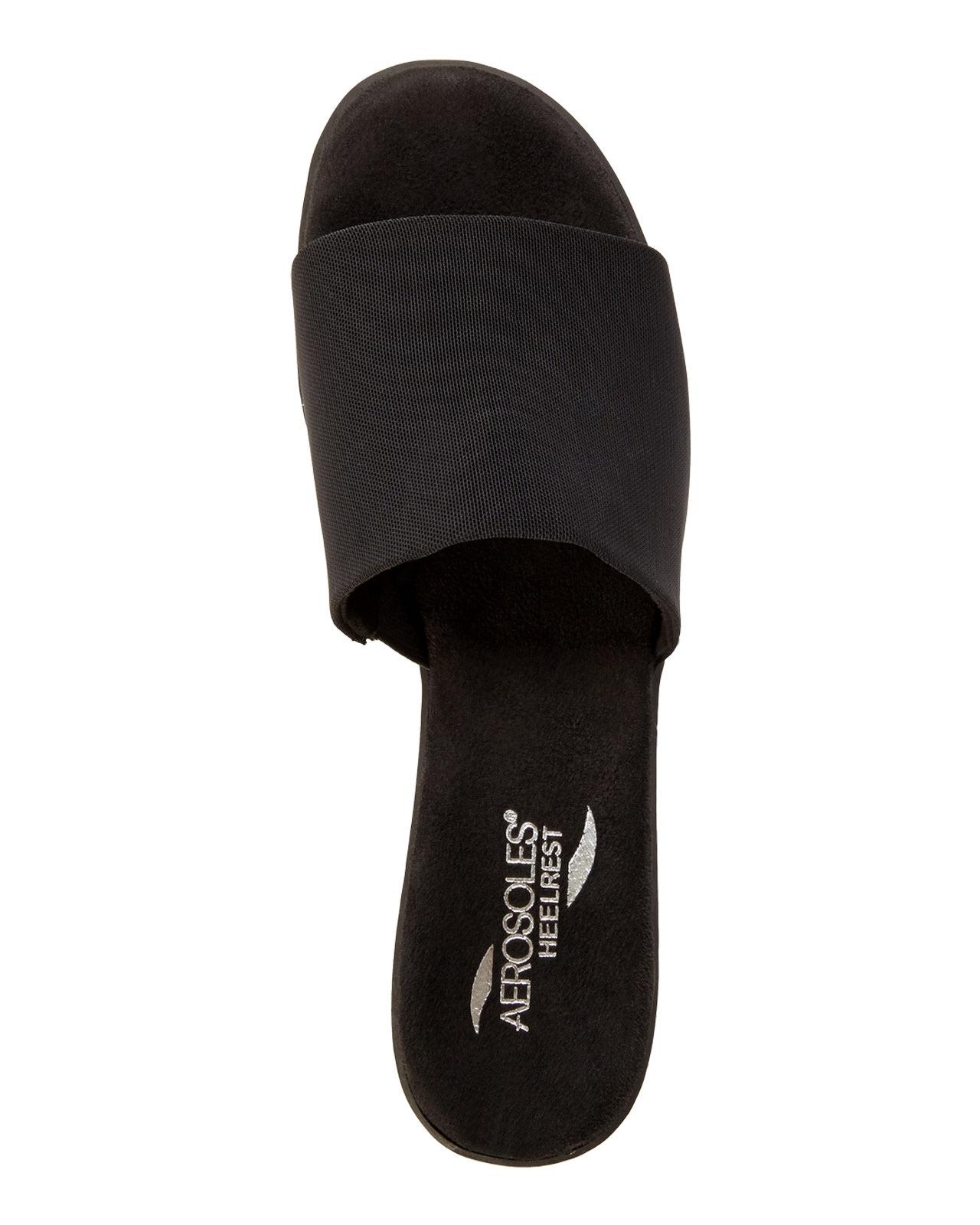 7db9851d8df3 Lyst - Aerosoles Badminton Wedge Sandals in Black