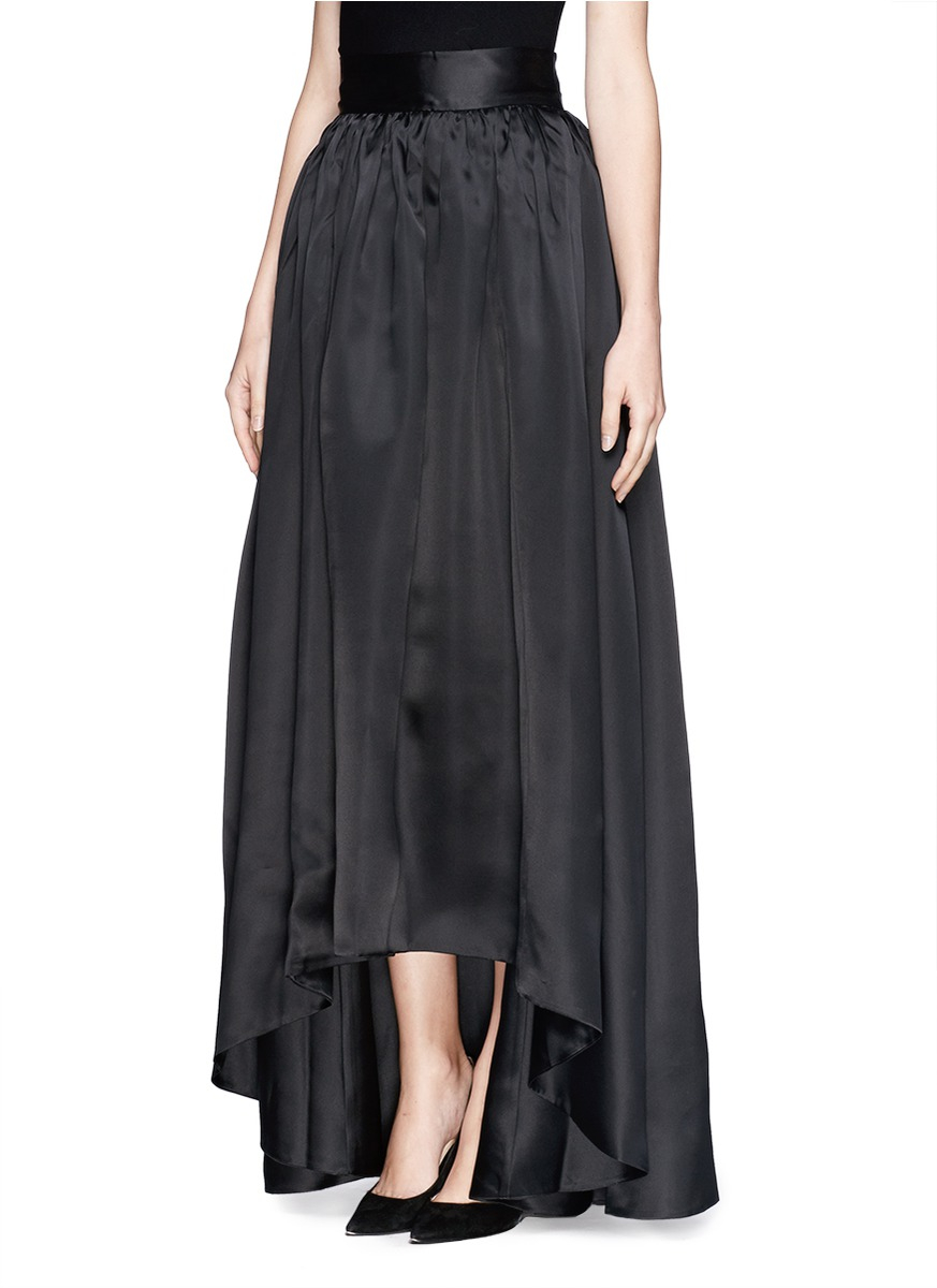 Lyst - St. John Organza Ball Gown Skirt in Black