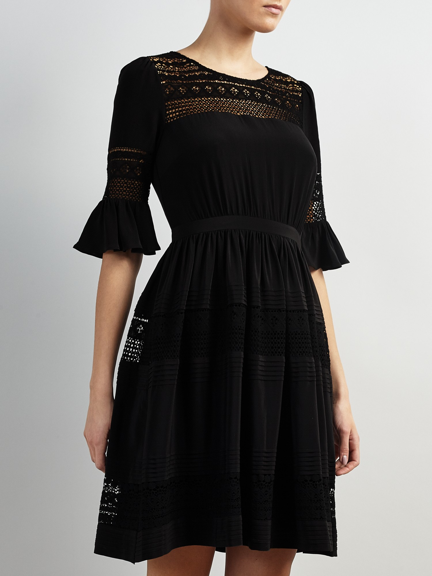 Somerset By Alice Temperley Lace Insert Dress In Black Lyst