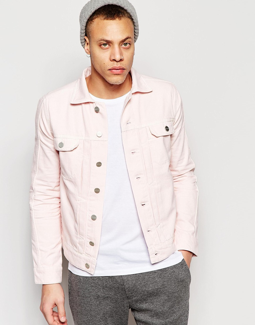 Wåven Denim Jacket Axel 2 Pocket Pale Pink in Pink for Men | Lyst