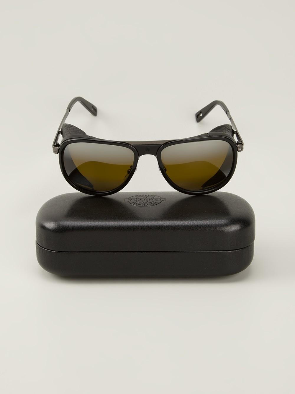 Vuarnet Aviator Sunglasses In Black For Men Lyst