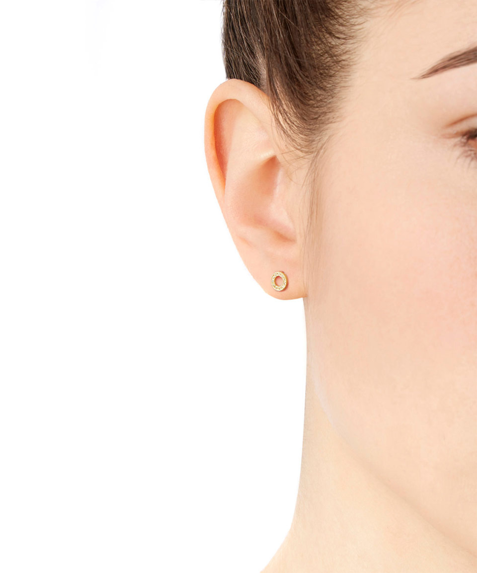 earrings in brooke metallic gregson lyst open gallery diamond product gold circle normal jewelry