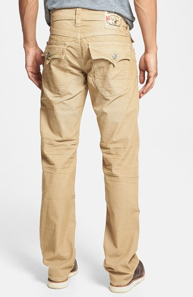 True religion 'ricky' Relaxed Fit Corduroy Pants in Natural for ...
