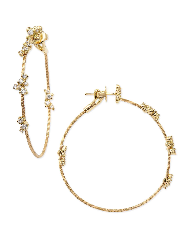Lyst - Paul Morelli 18k Yellow Gold Diamond Confetti Single Wire ...