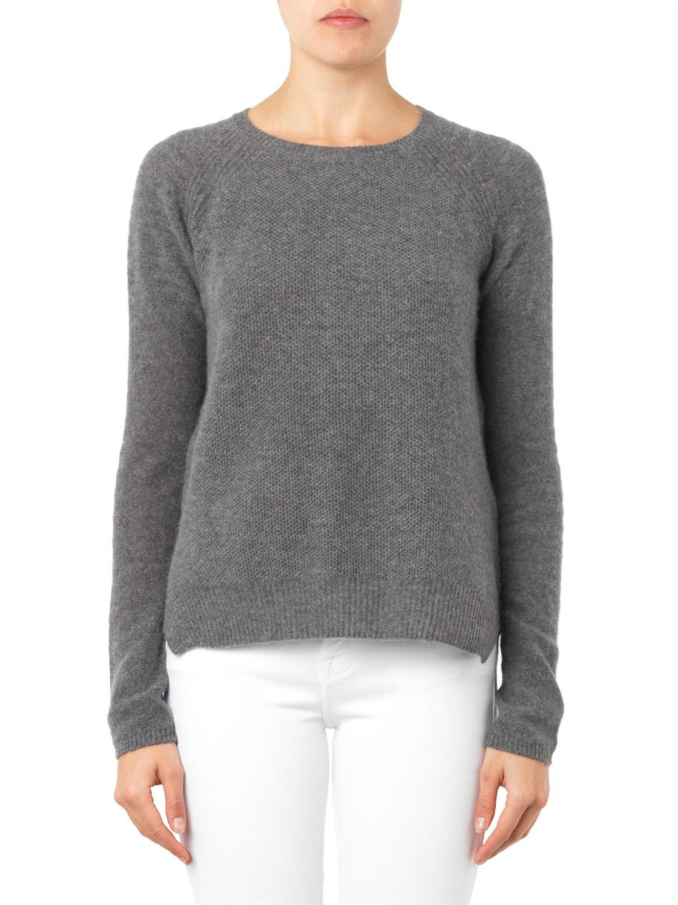 Velvet by graham & spencer Alba Waffle-Knit Cashmere Sweater in ...