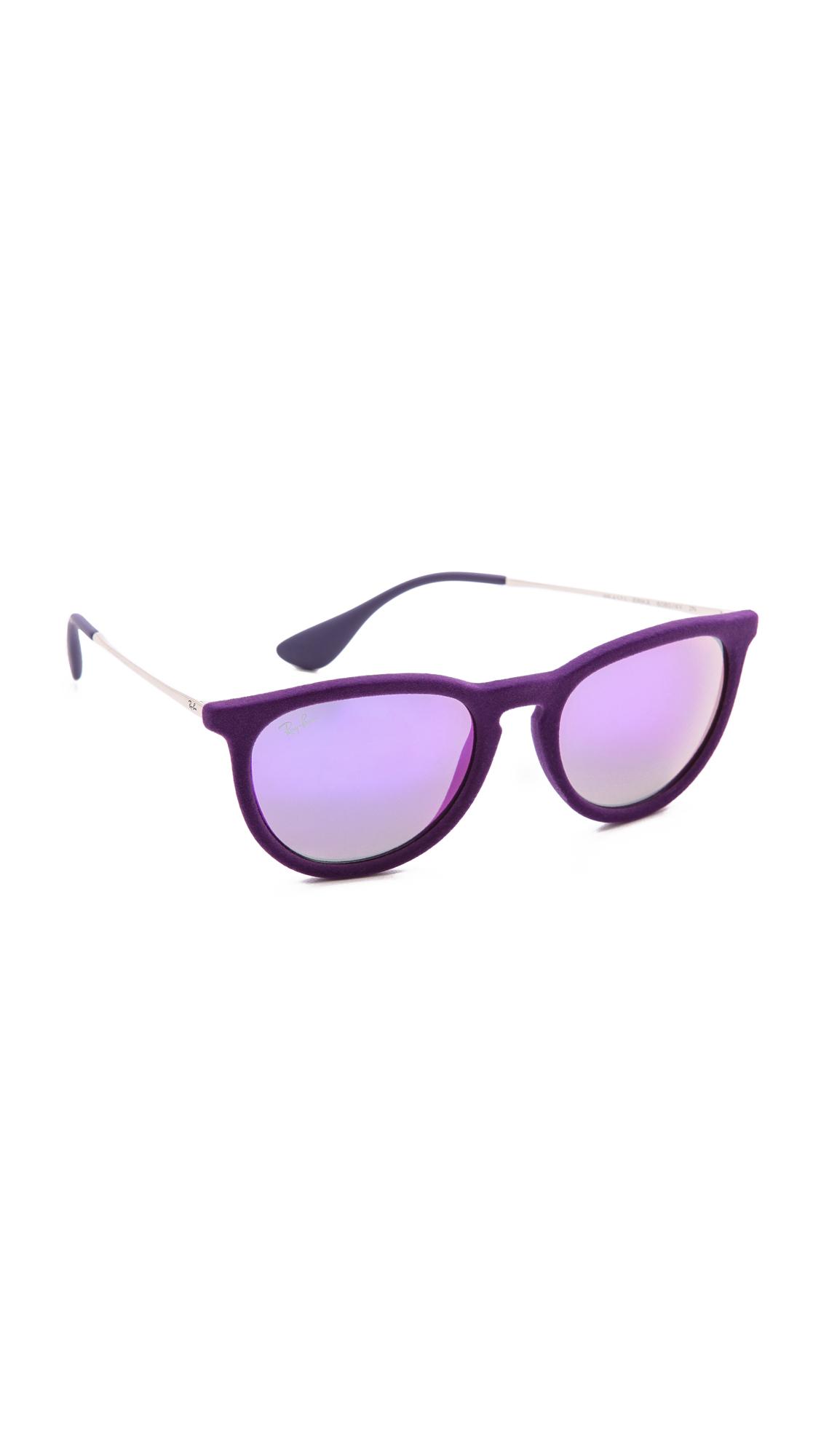 530c6bab50 Lyst - Ray-Ban Erika Velvet Sunglasses - Violet in Purple