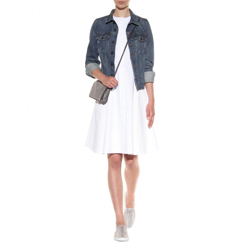 Lyst - Stella McCartney Falabella Shaggy Deer Mini Shoulder Bag in Gray 318147a97628b