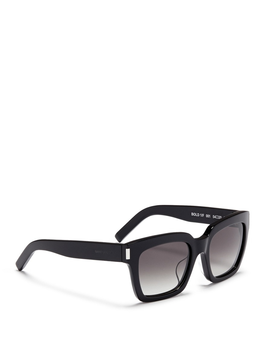 1dd22a250790b6 Lyst - Saint Laurent  bold 1  Acetate Square Sunglasses in Black