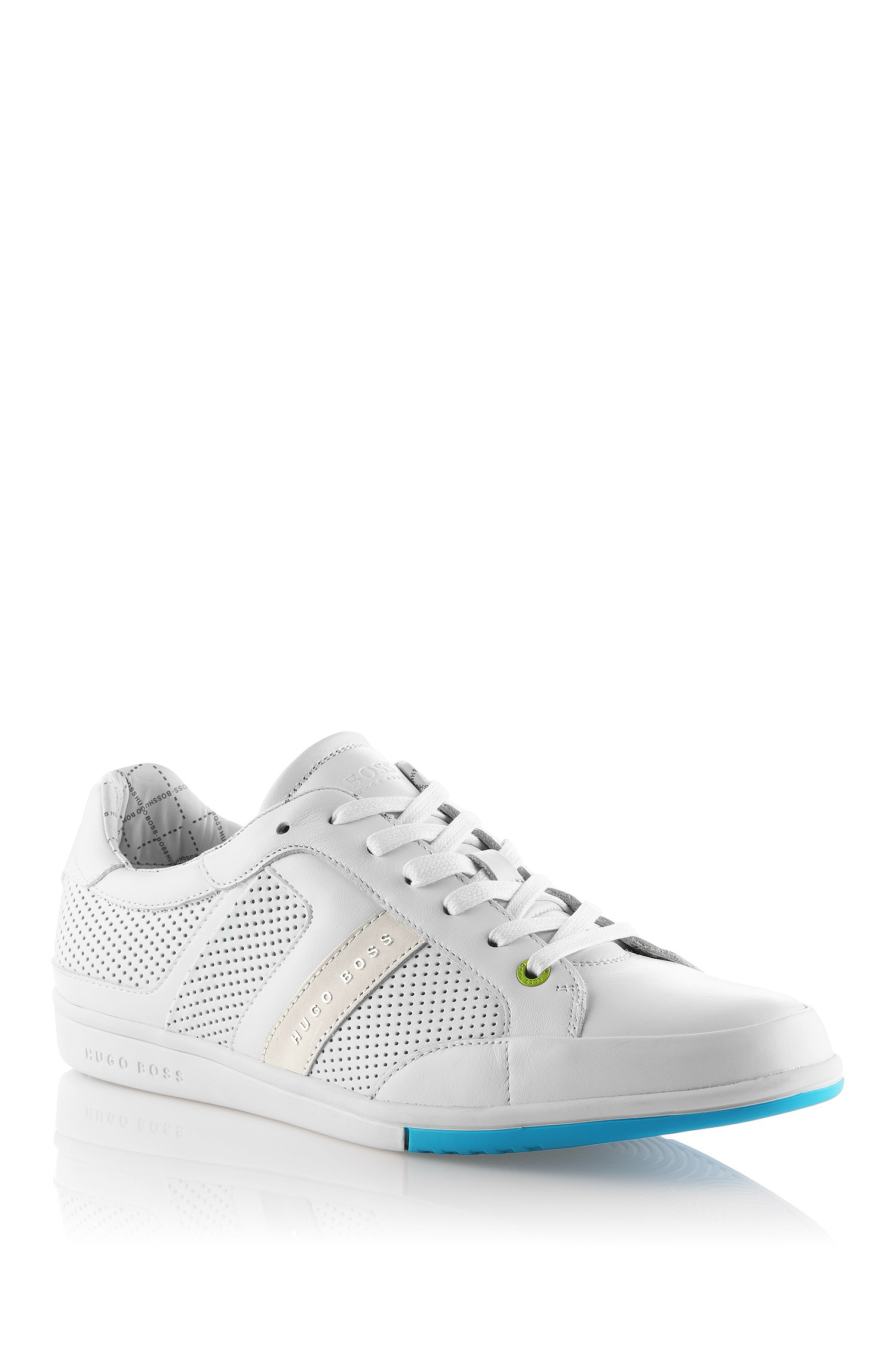 f97b8f22894 BOSS Green Leather Sneaker Eldorado Clay in White for Men - Lyst