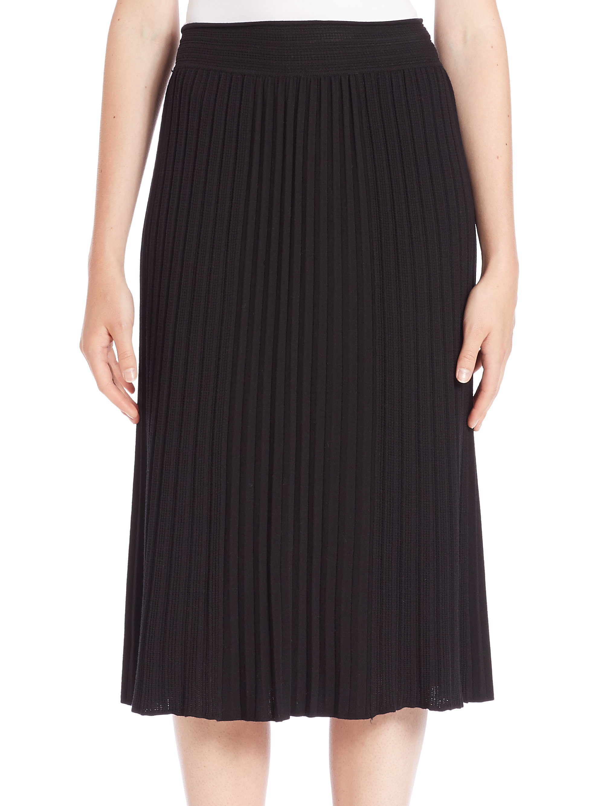 bailey 44 shubert alley pleated knit skirt in black lyst