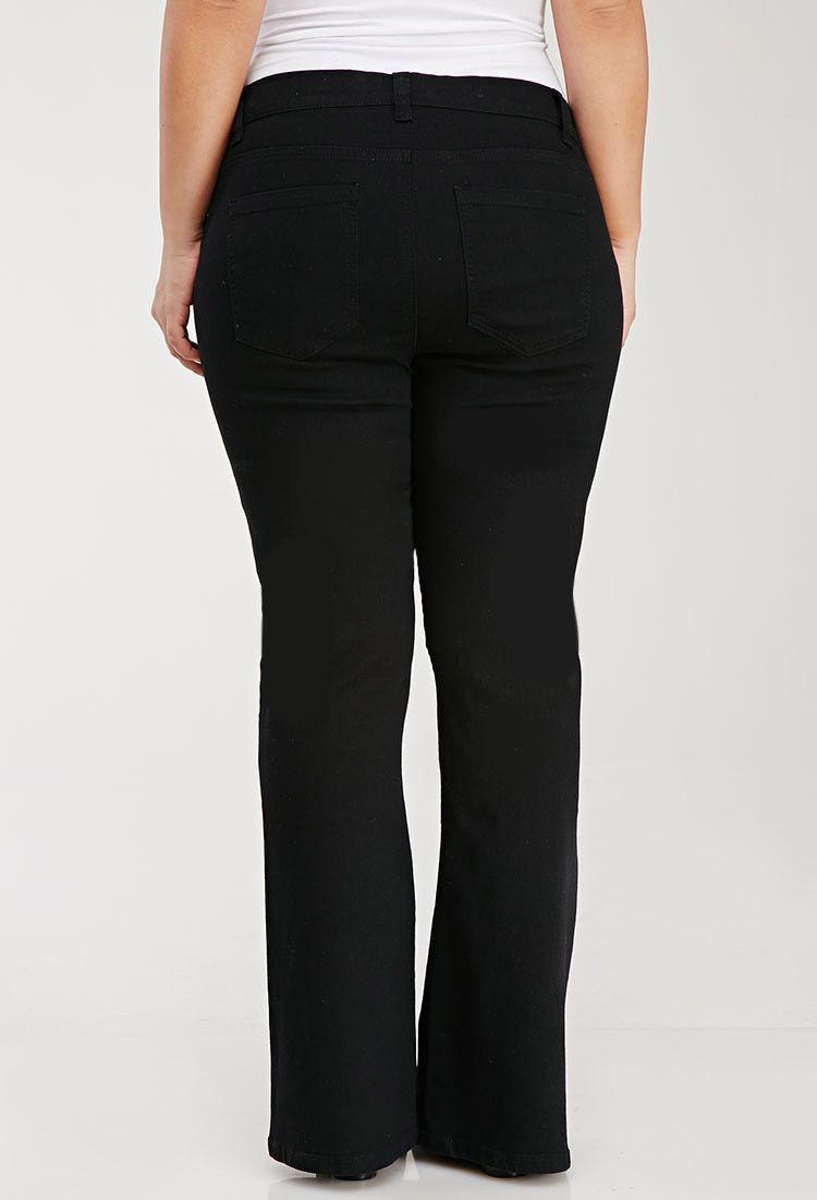 065f0eb2474 Lyst - Forever 21 Plus Size Classic Bootcut Jeans in Black
