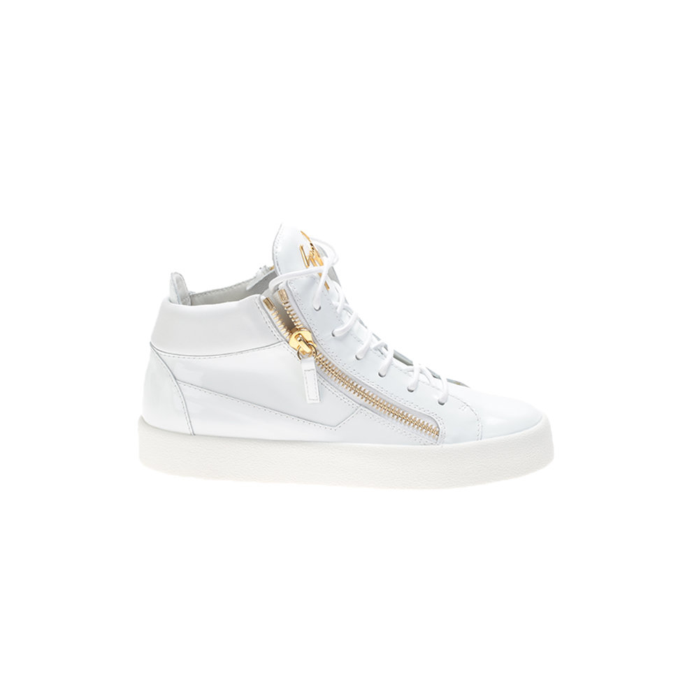 2f1d60ae5df3b Giuseppe Zanotti White Patent Leather Kriss Sneakers in White - Lyst