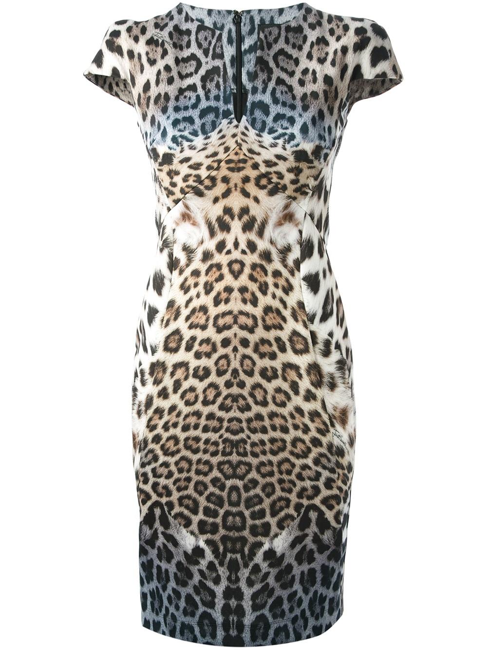 Multi color leopard dress