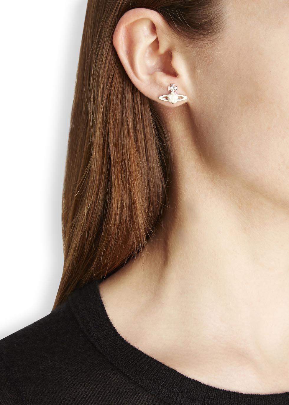 50e6b1db5 Vivienne Westwood Silver Plated Orb Earrings in Metallic - Lyst