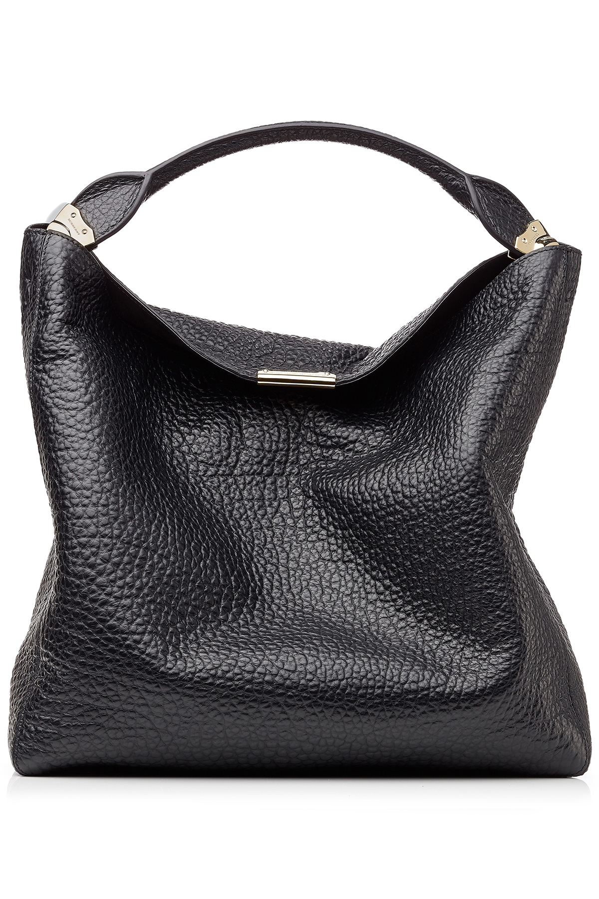 443f58fc57e0 Lyst - Burberry Lindburn Embossed Leather Hobo Bag - Black in Black
